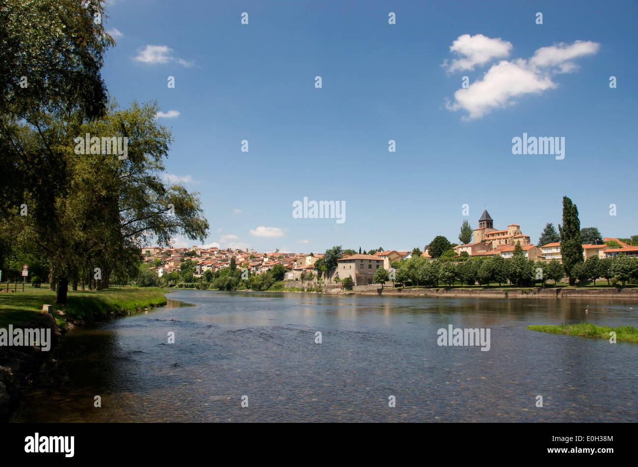 River Allier At Pont Du Chateau  Puy De Dome  Auvergne  France Stock Photo  69217252