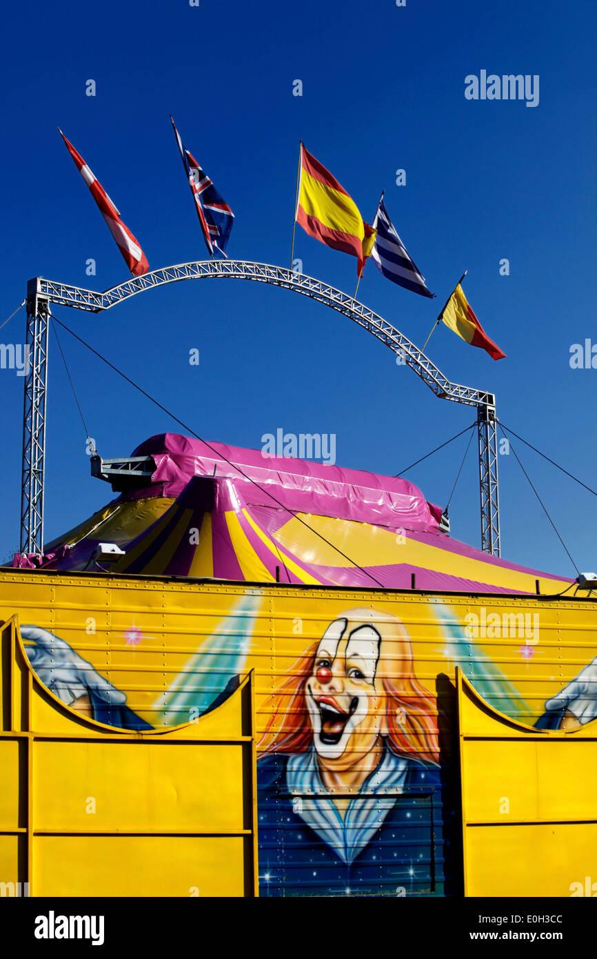 Circus big top tent - Stock Image