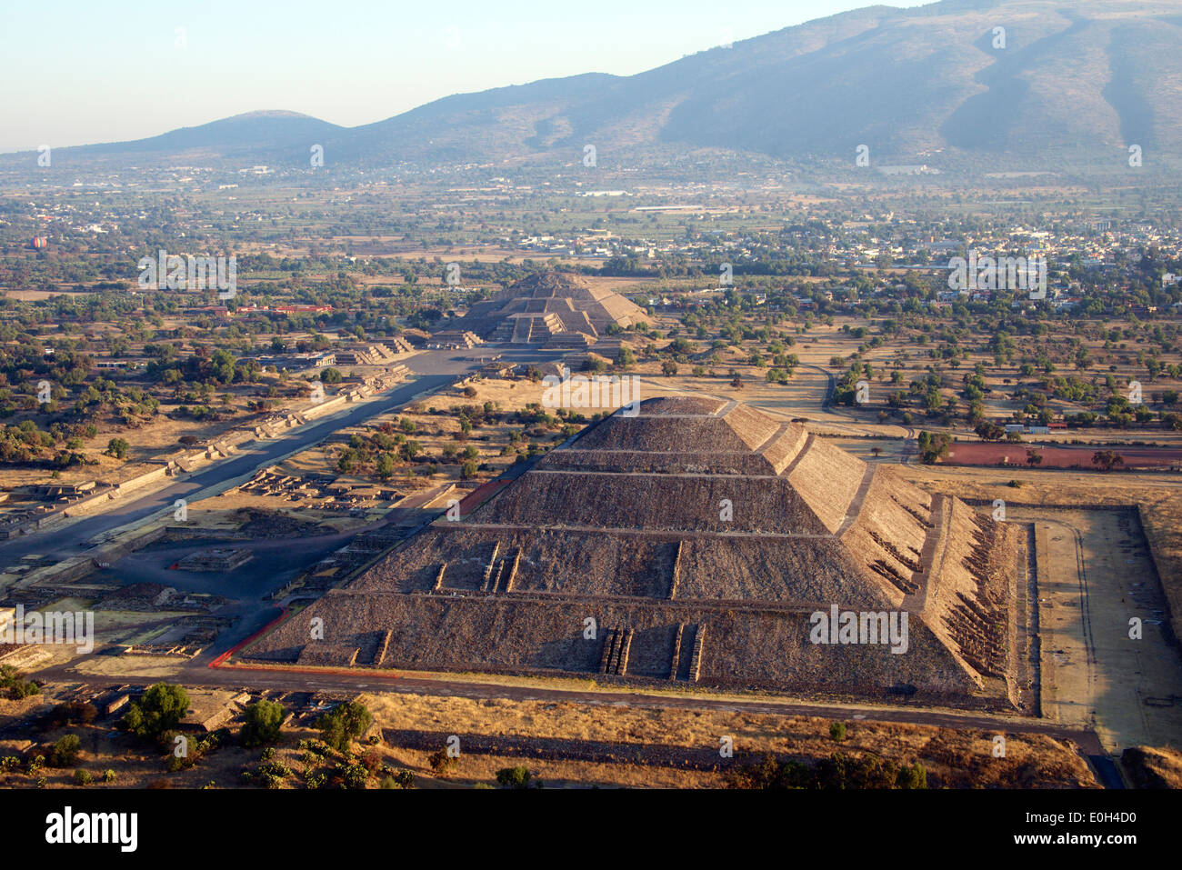 Pyramid Of The Sun Aerial View Stock Photos & Pyramid Of ...