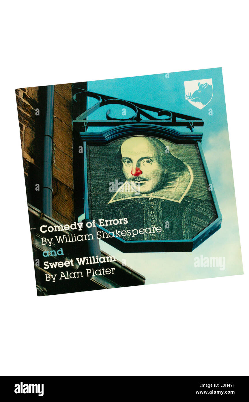 Programme for 2005 Northern Broadsides double bill of Comedy of Errors with Sweet William by Alan Plater at Greenwich Theatre. - Stock Image