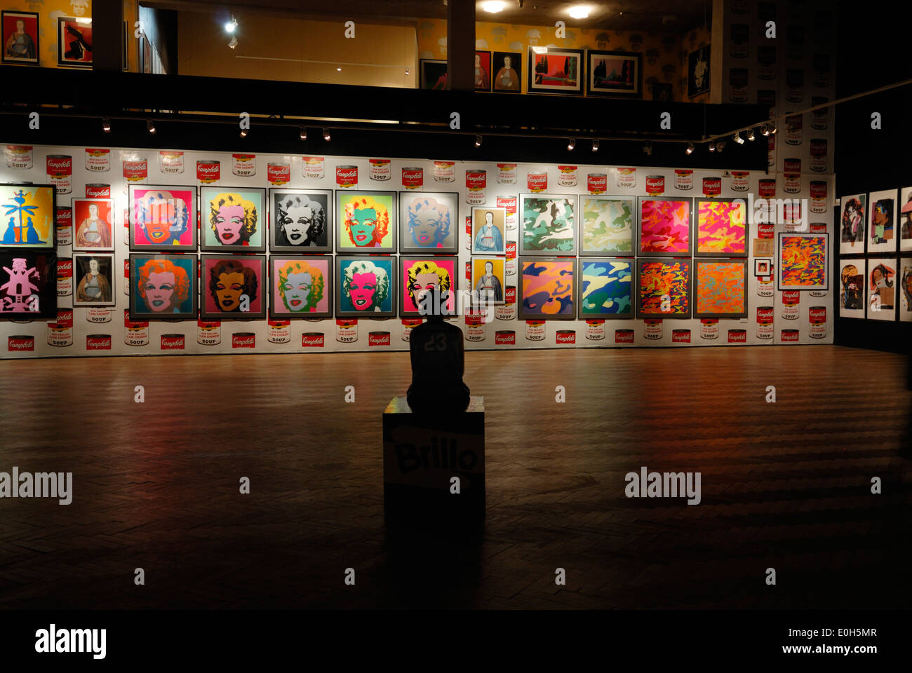 Marilyn Print Exhibits At Andy Warhol Museum Of Modern Art Stock