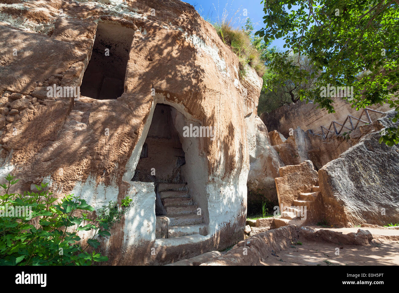 Cave dwellings in the Rocky Village of Zungri, Calabria, Italy, Europe - Stock Image