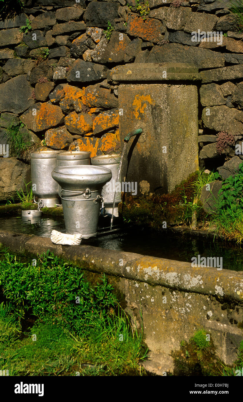 Fountain in Auvergne, Puy de Dome, France, Europe Stock Photo