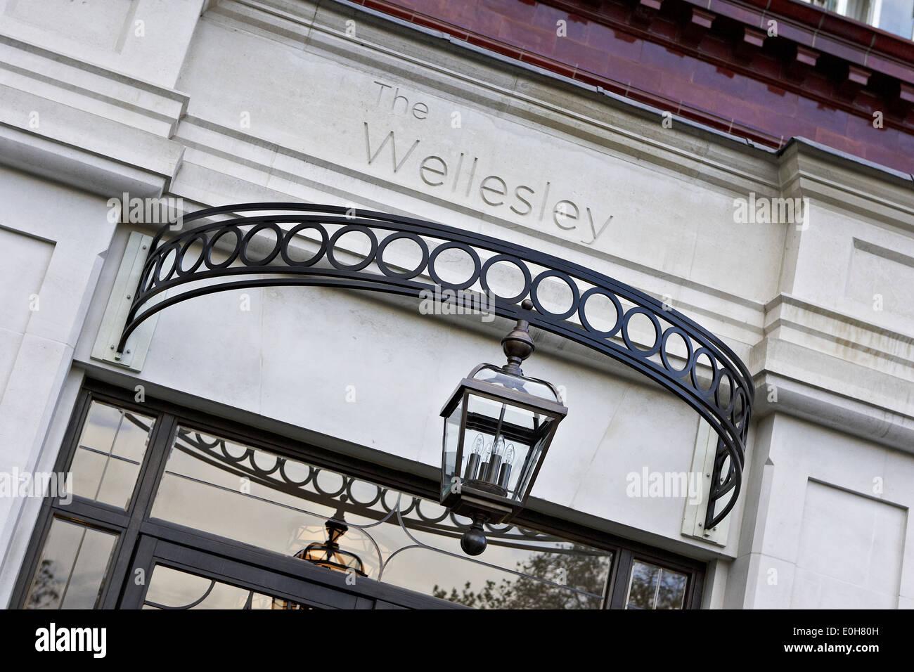 the wellesley hotel, london uk - Stock Image