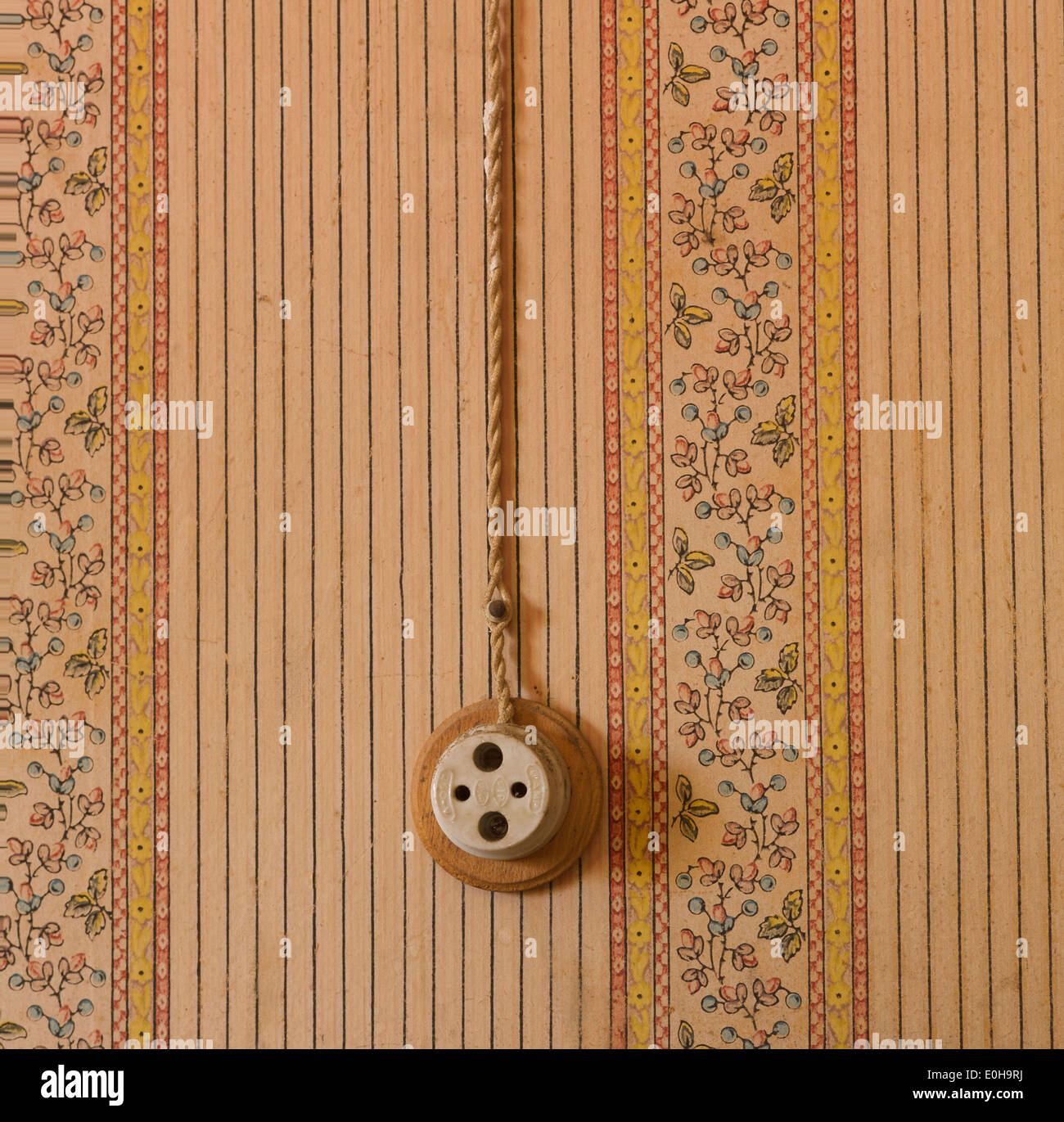 Old Electrical Wiring Stock Photos Ac Socket Fashioned French France Europe In A House Set For