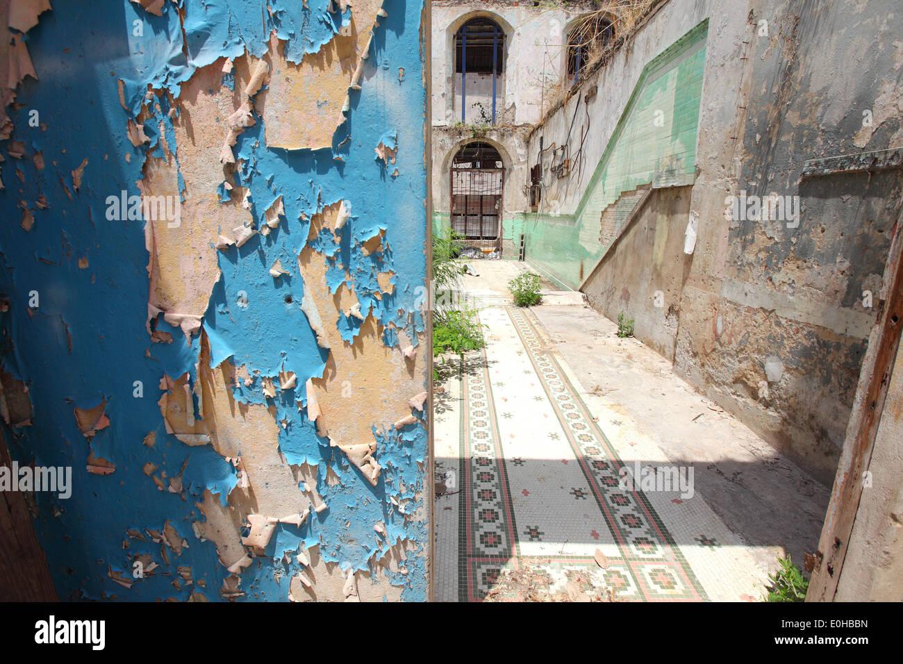 Casco Antiguo, old, house, housing, construction site, construct, broken down, Ciudad de Panamá, Panama city - Stock Image