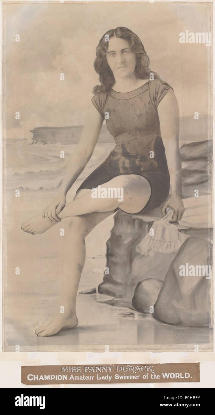 Portrait of Fanny Durack, 1912 - Stock Image