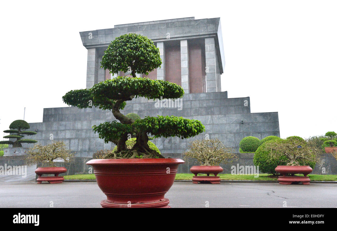 side view of Ho Chi Minh Mausoleum , the historic place where Respected Uncle Ho lies in state. - Stock Image