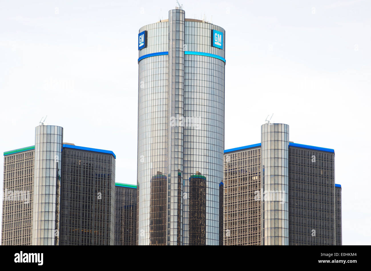 G.M. Building in downtown Detroit. - Stock Image