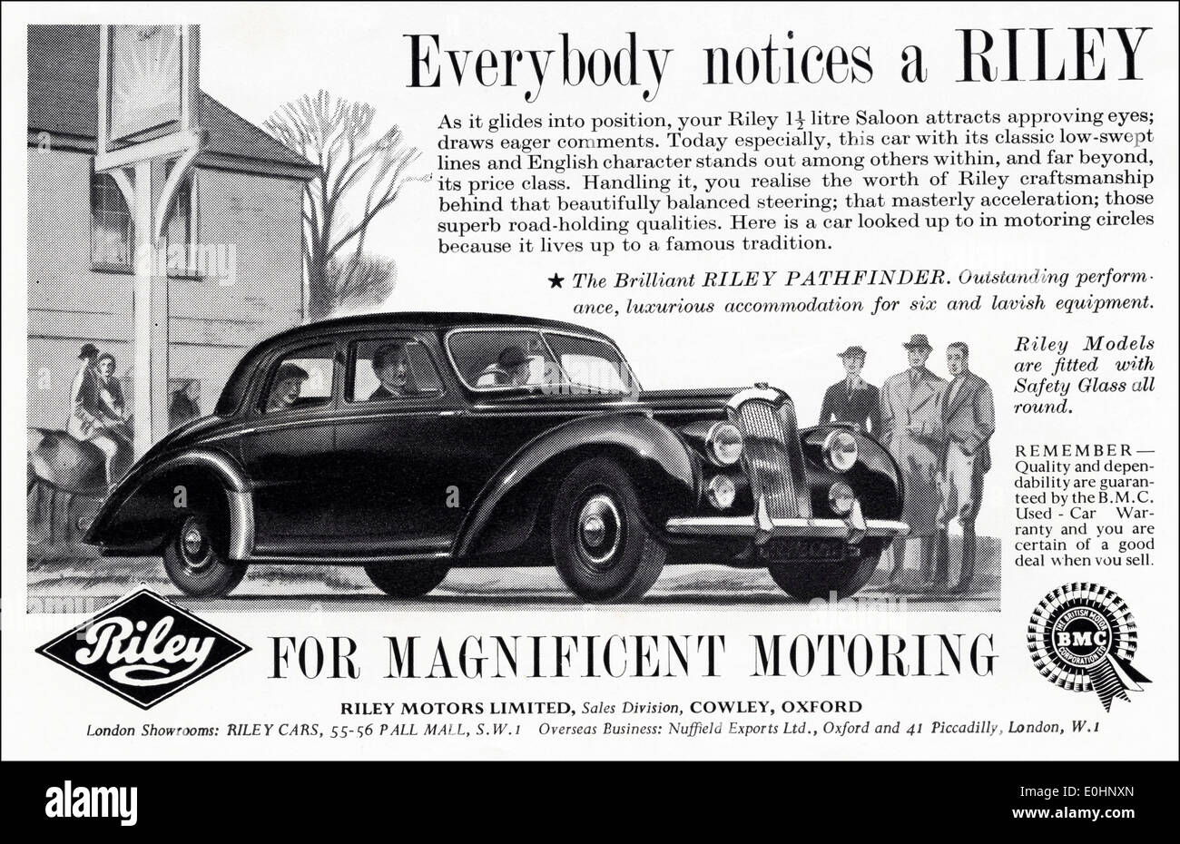 1950s British Car Advert Stock Photos & 1950s British Car Advert ...