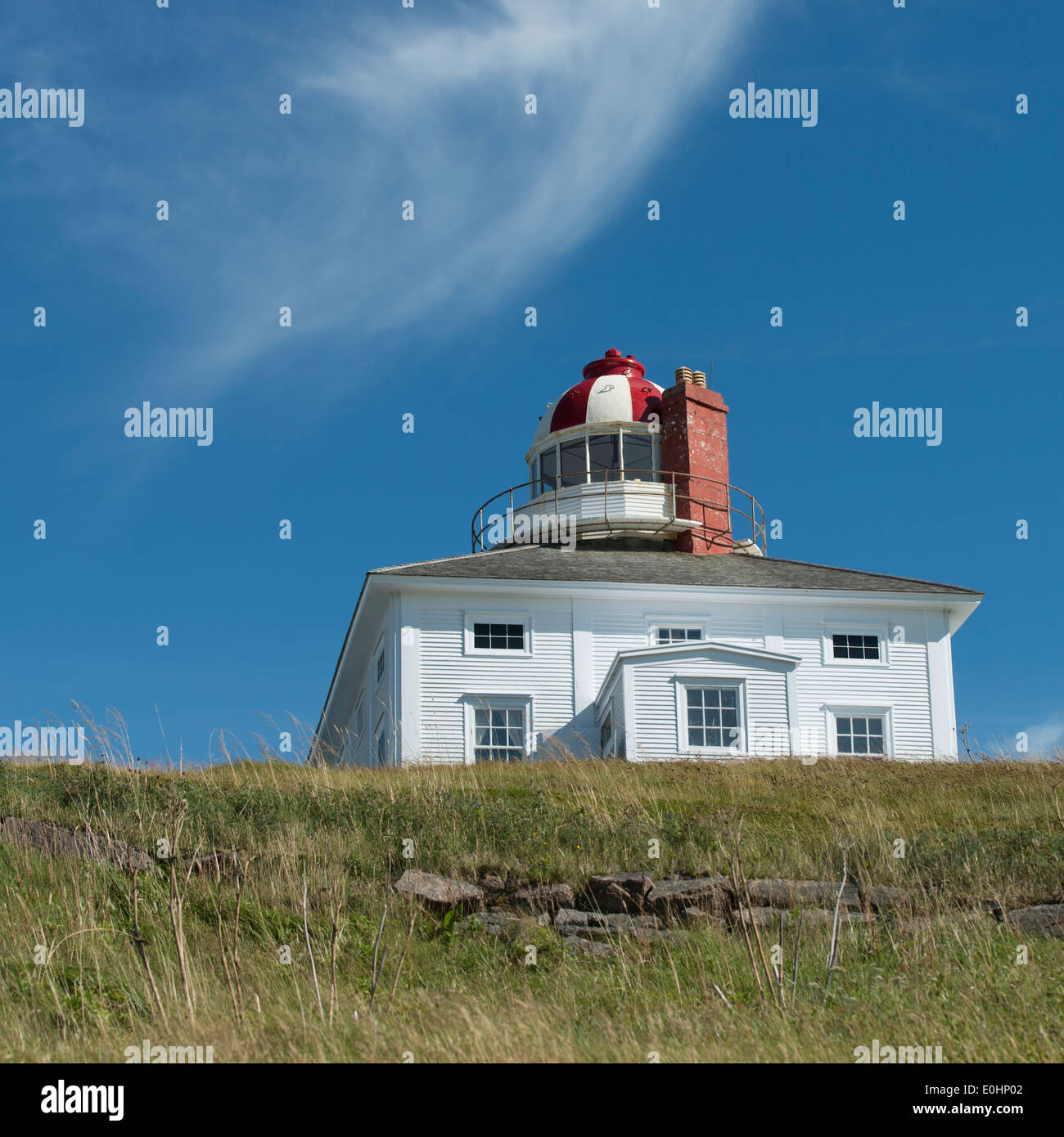 Lighthouse at Cape Spear, St. John's, Newfoundland And Labrador, Canada - Stock Image