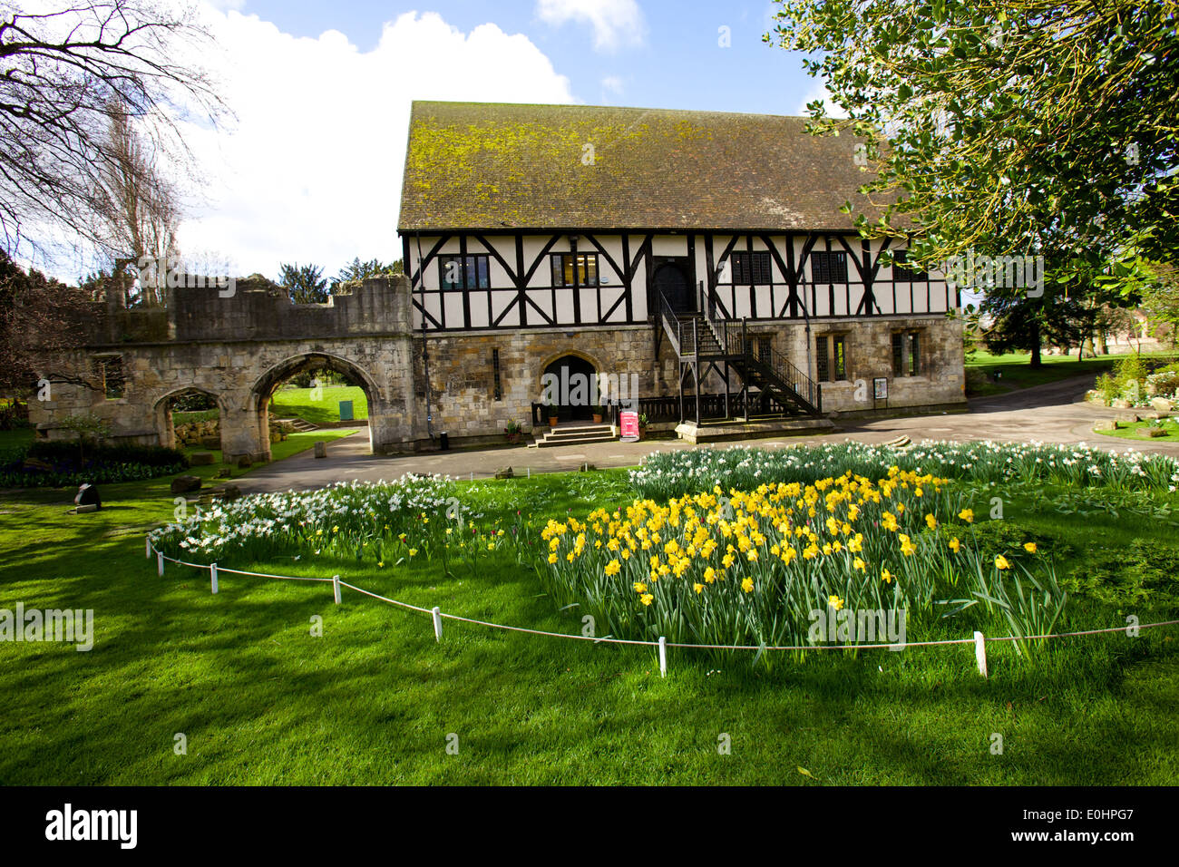 The Hospitium in York a 14th Century Tudor Building - Stock Image
