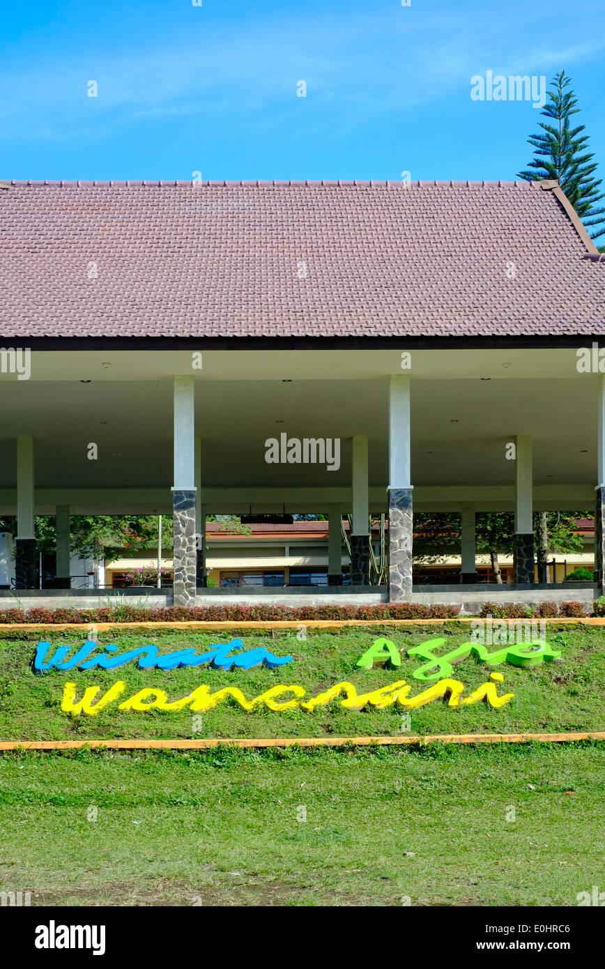 Company Name Sign At The Wonosari Tea Plantation Near Malang East Stock Photo Alamy