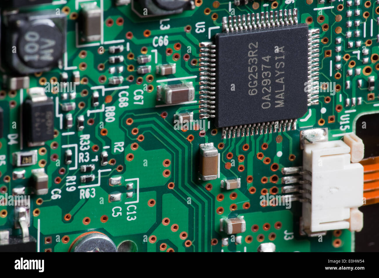 Elektronik, Platine - Electronic, circuit board Stock Photo ...
