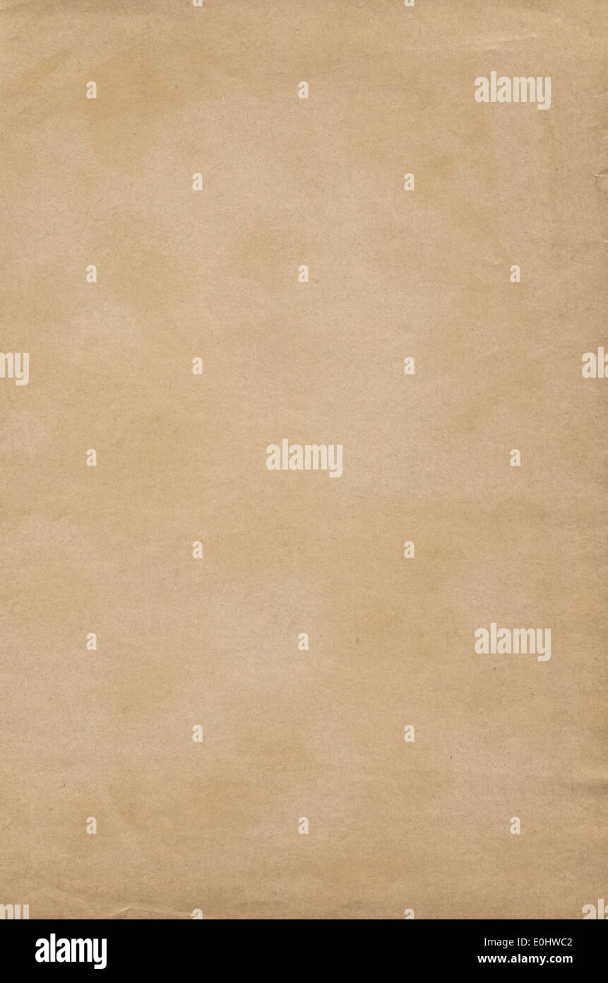 Brown old paper texture - Stock Image