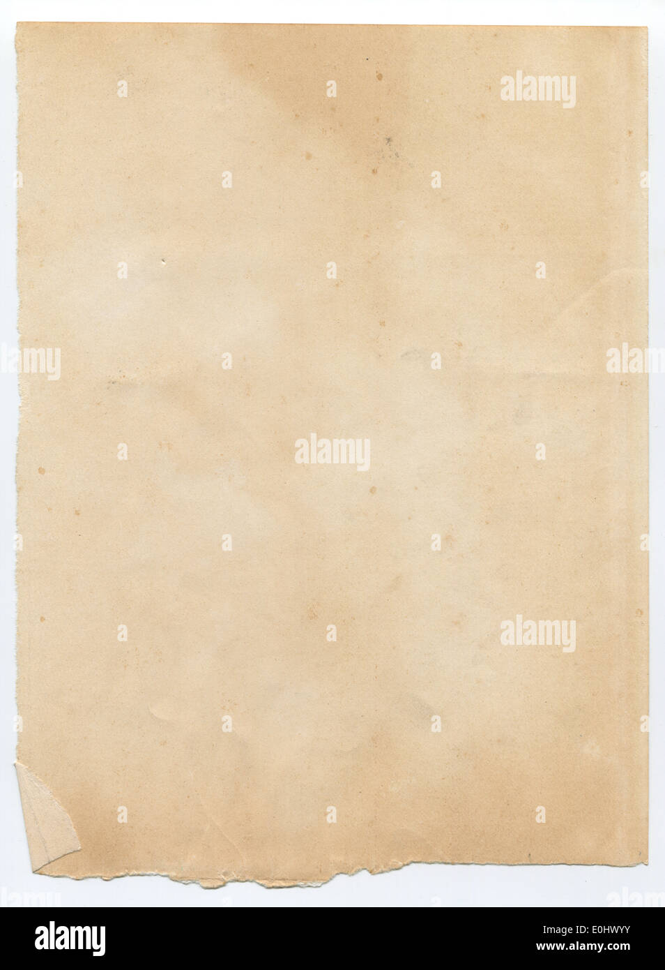 Torn old paper texture - Stock Image