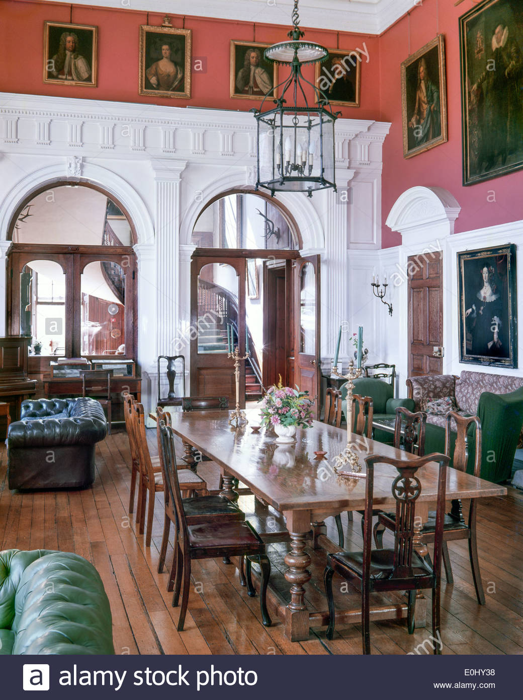 The Great Hall at Danny, a Grade I listed Elizabethan English country house in Sussex, England UK – 1976 (Editorial Use Only) - Stock Image