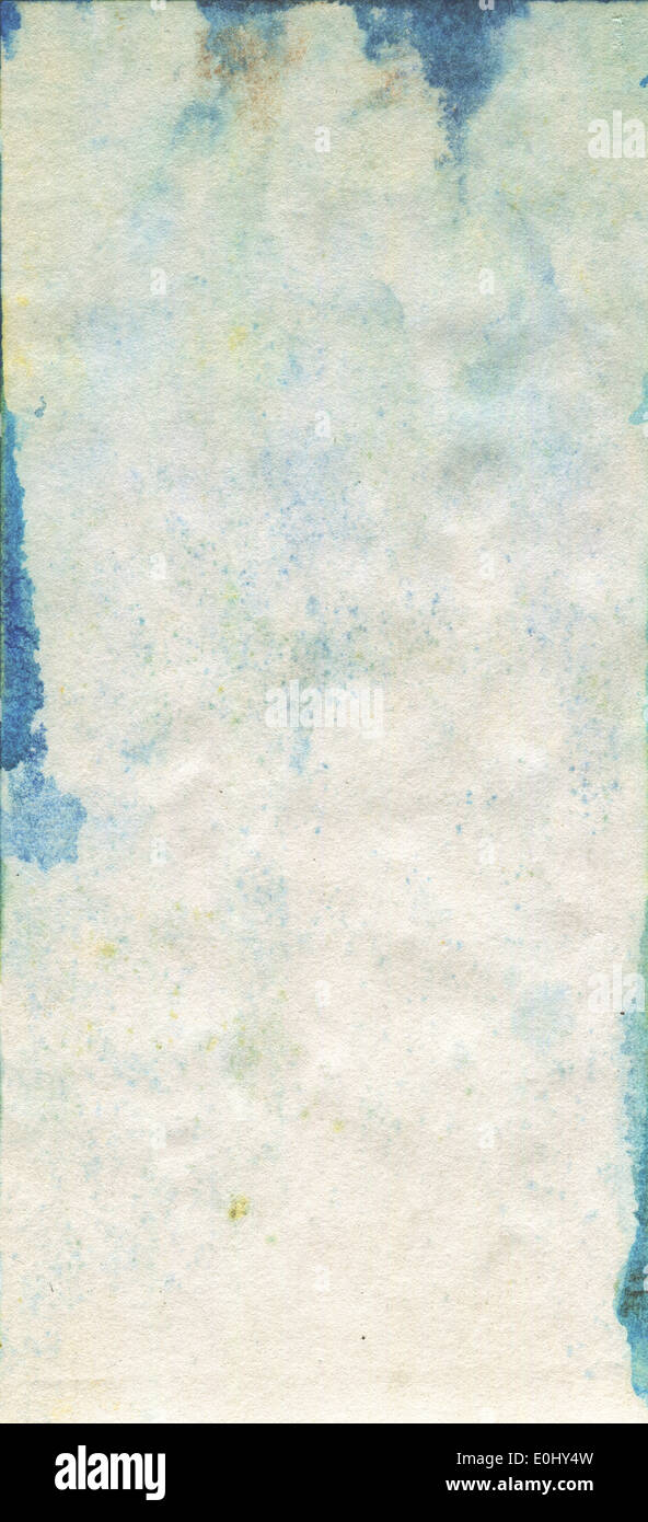 Stained old watercolour paper texture - Stock Image