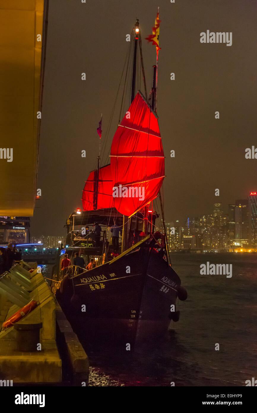 Toursit ship at Tsim Sha Tsui, Hong Kong - Stock Image