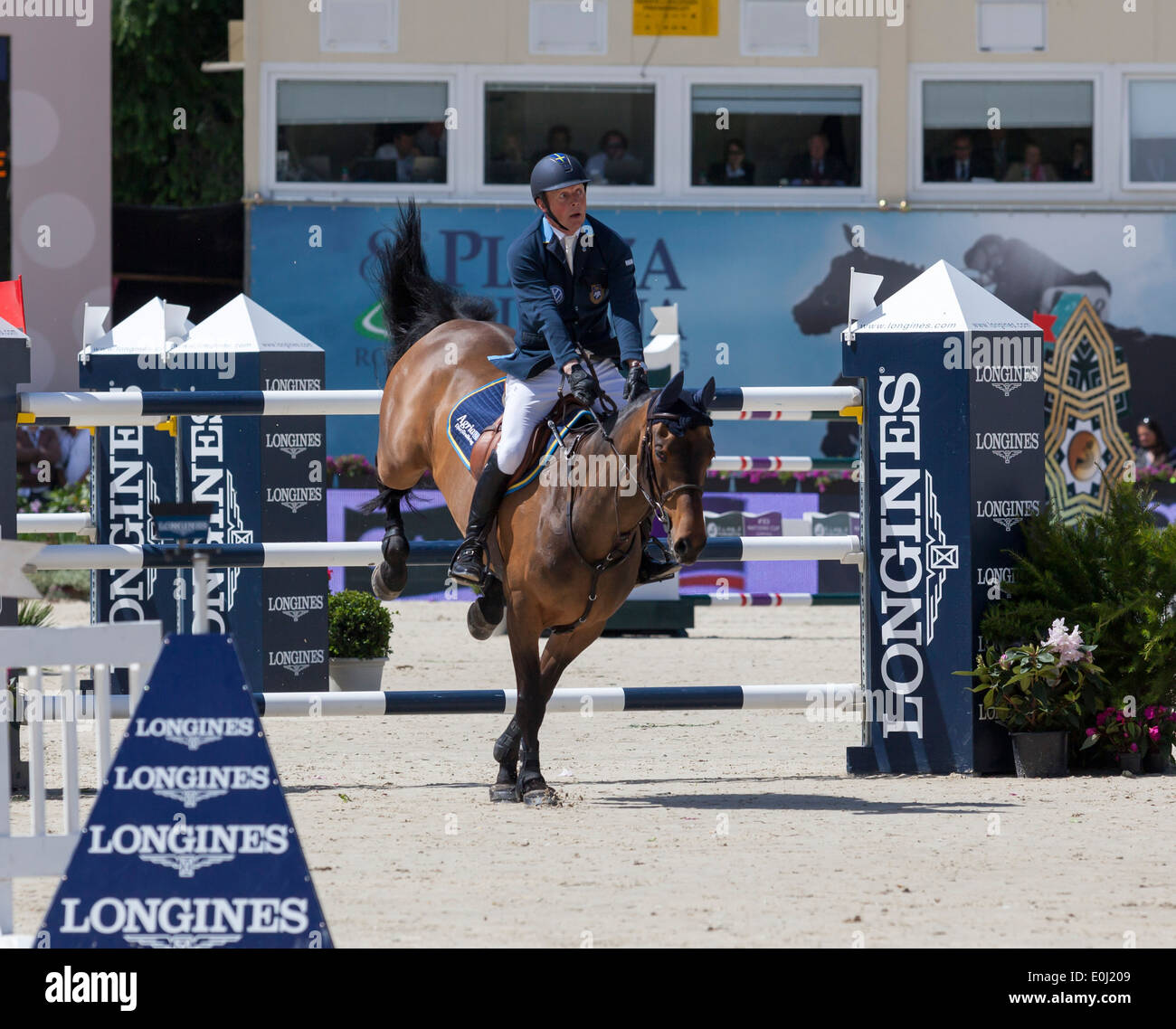 Jens Fredricson of Sweden on Lunatic at the Piazza di Siena show jumping event in Rome, Italy in May 2013 5/24/13 - Stock Image