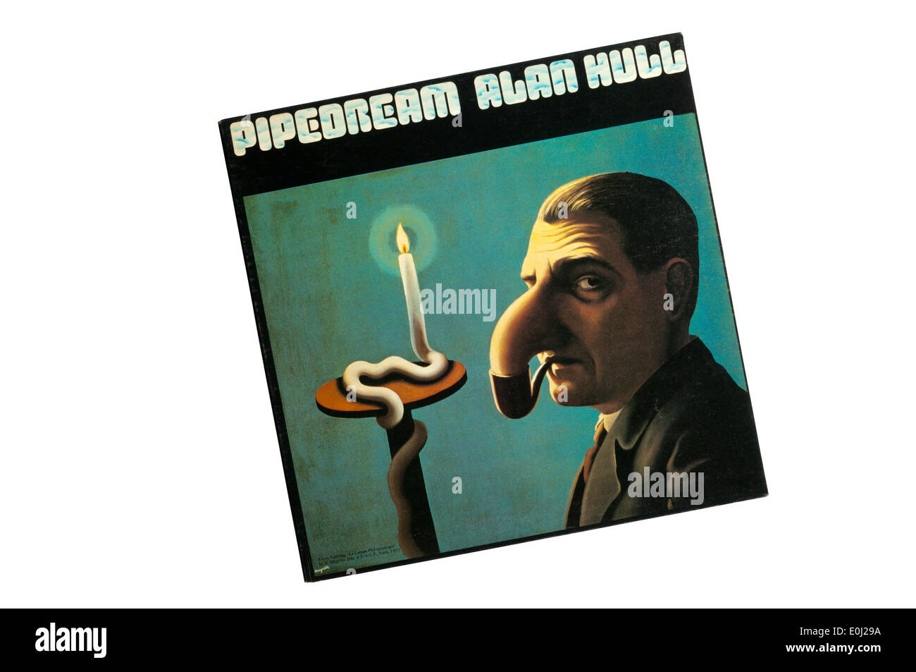 Pipedream was first solo album by Lindisfarne singer Alan Hull, released in 1973. Cover shows La Lamp Philosophique by Magritte. - Stock Image