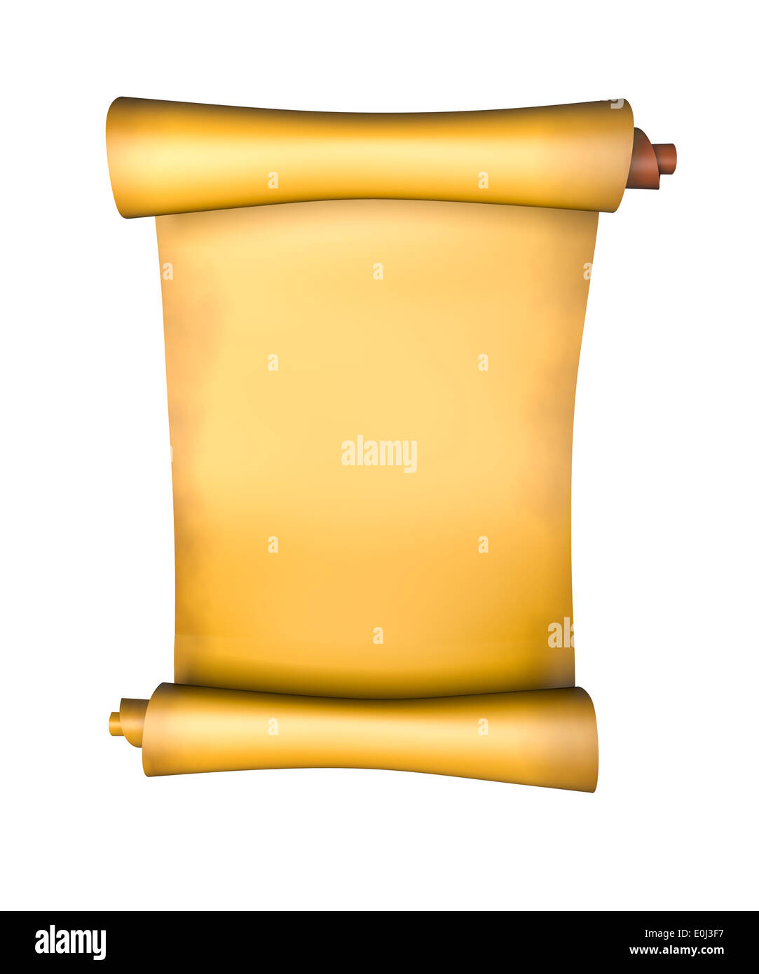 Old parchment paper scroll - 3d illustration Stock Photo