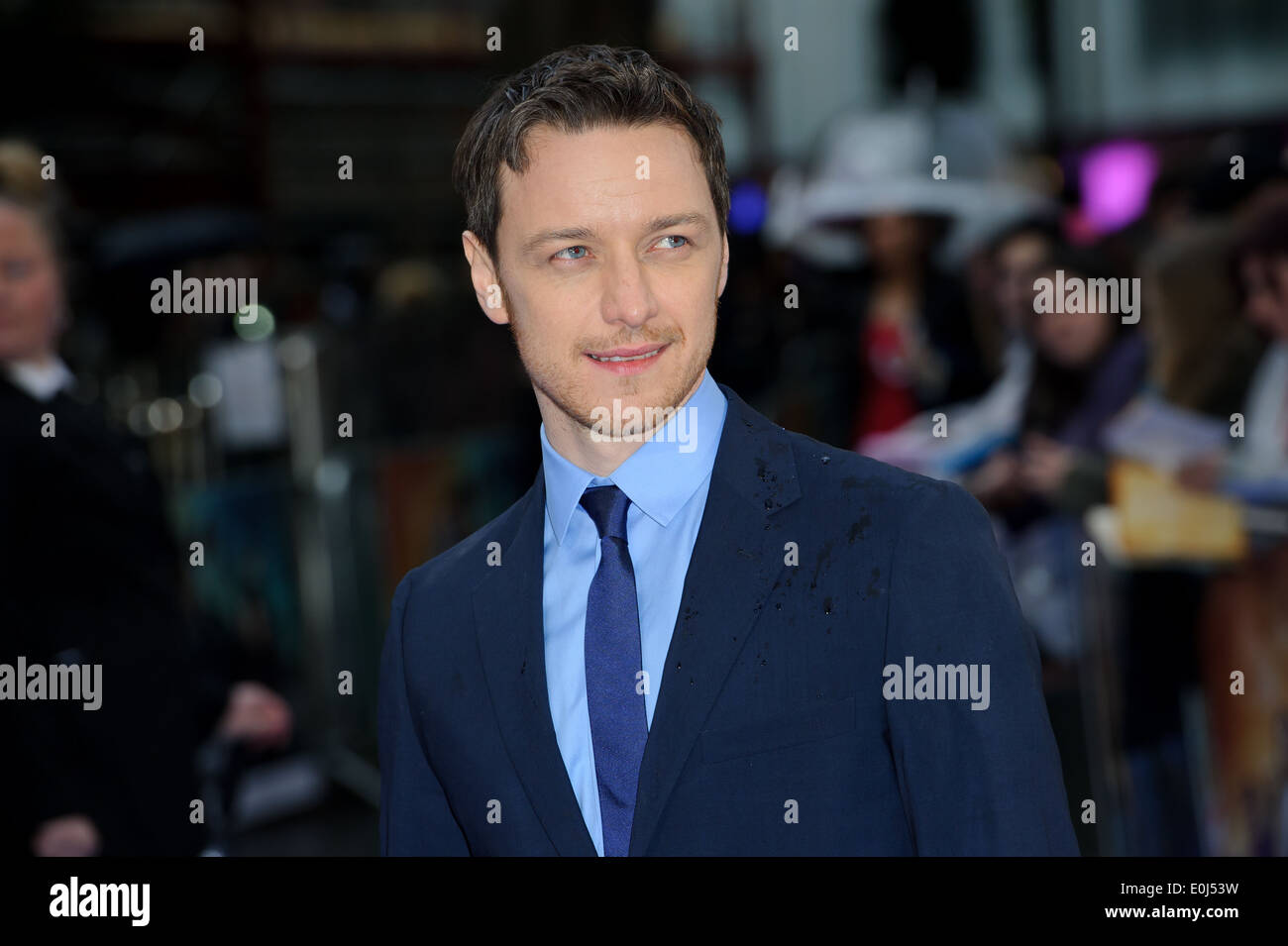 James McAvoy arrives for the UK Premiere of X-Men Days Of Future Past. - Stock Image
