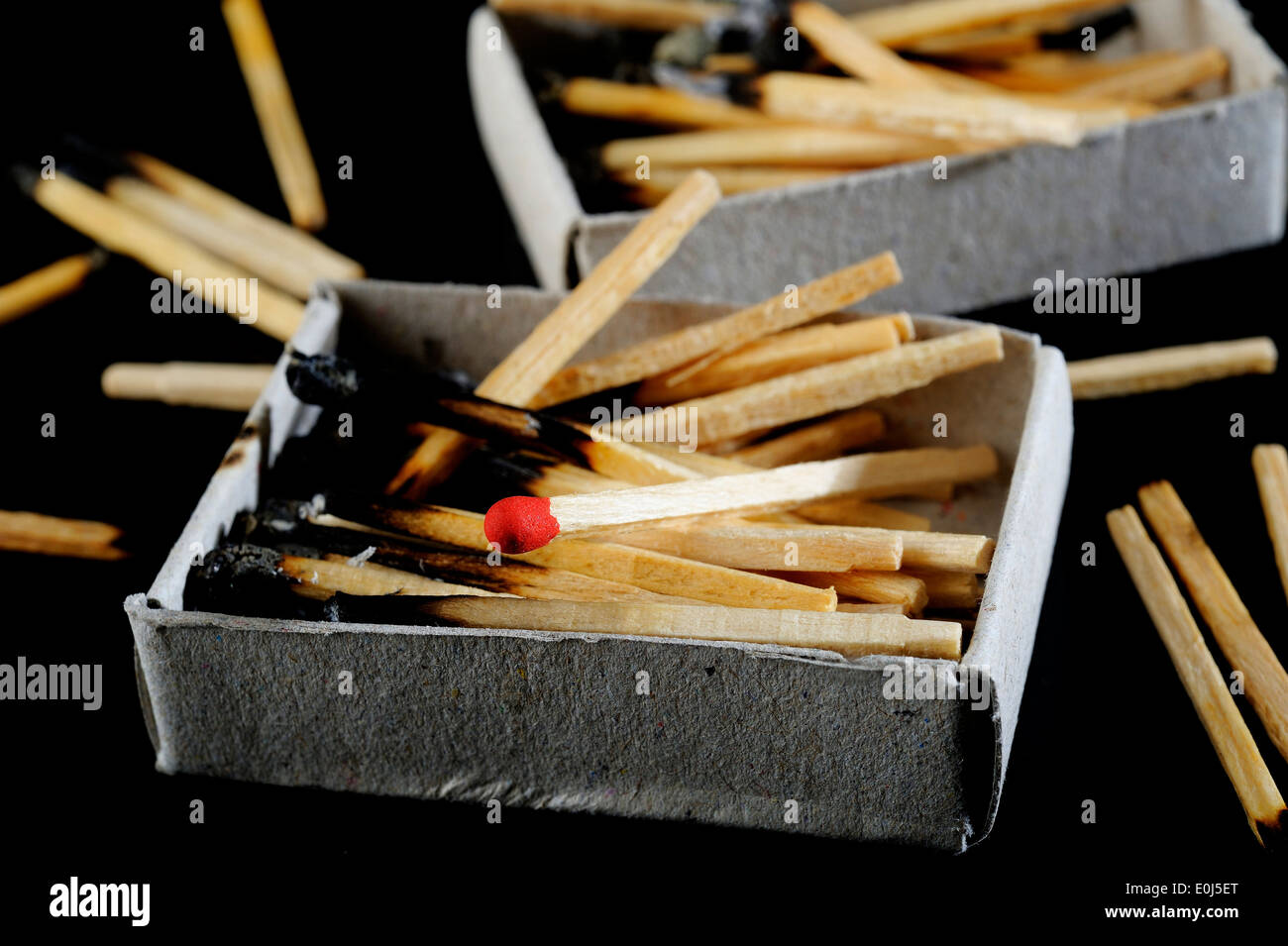 red match - Stock Image