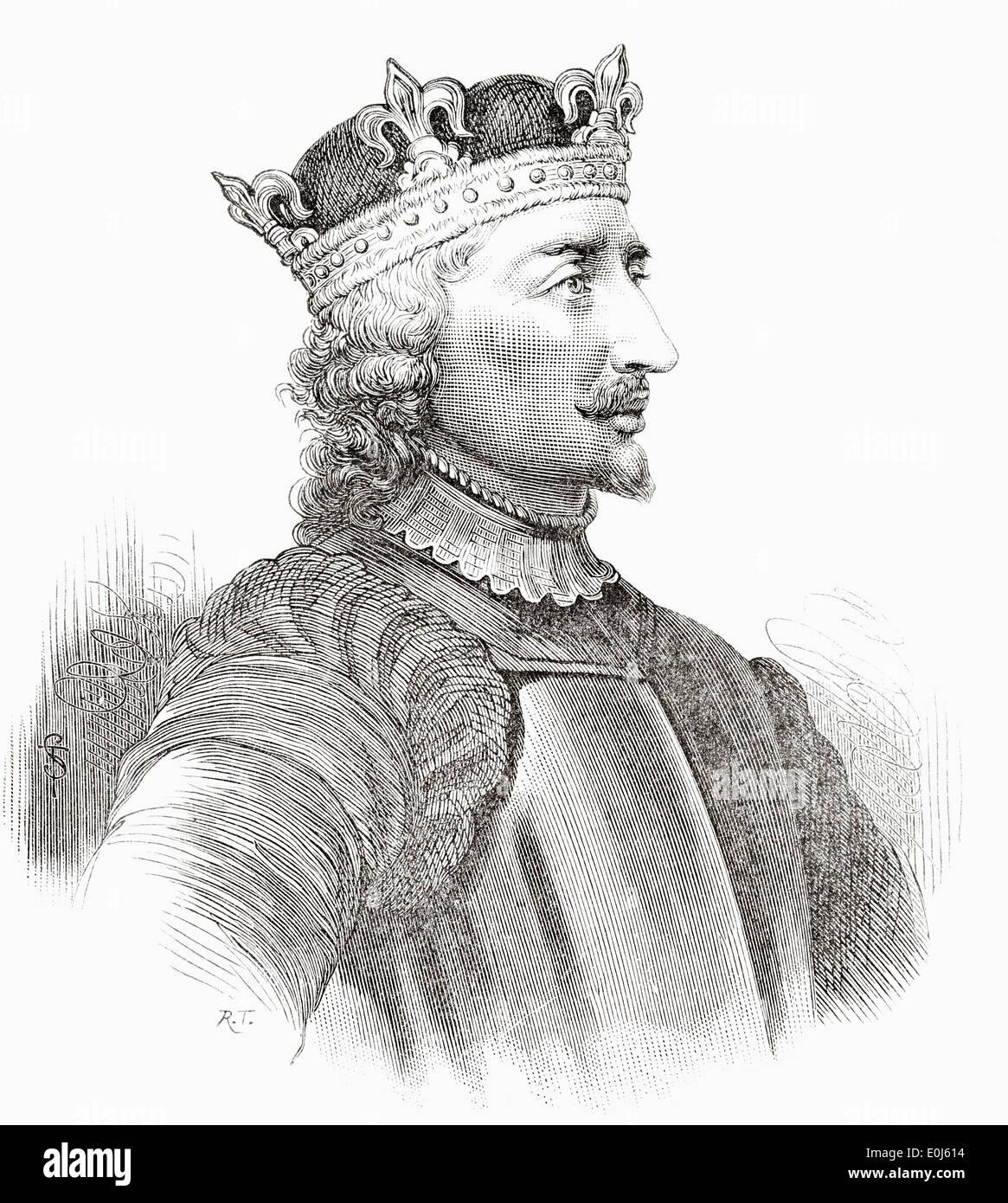 Stephen, c. 1092/6 –1154 aka Stephen of Blois. King of England. - Stock Image