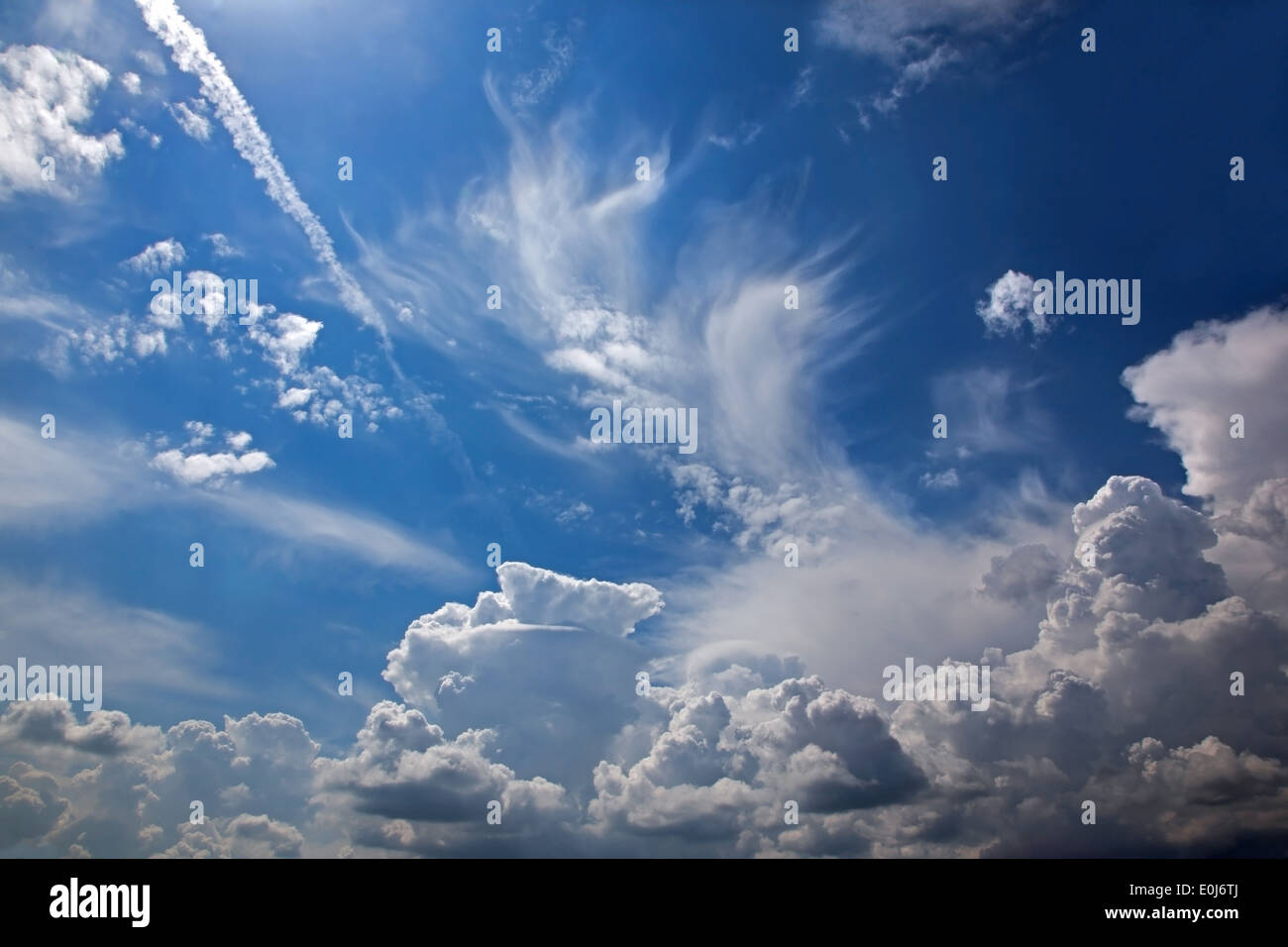 cloudscape for the storm - Stock Image