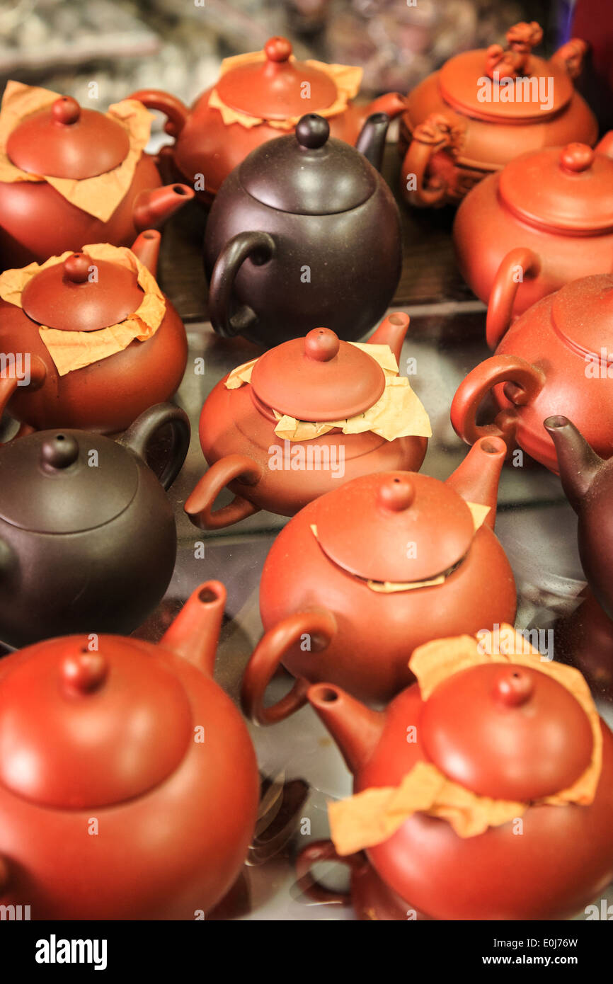 Chinese teapots - Stock Image