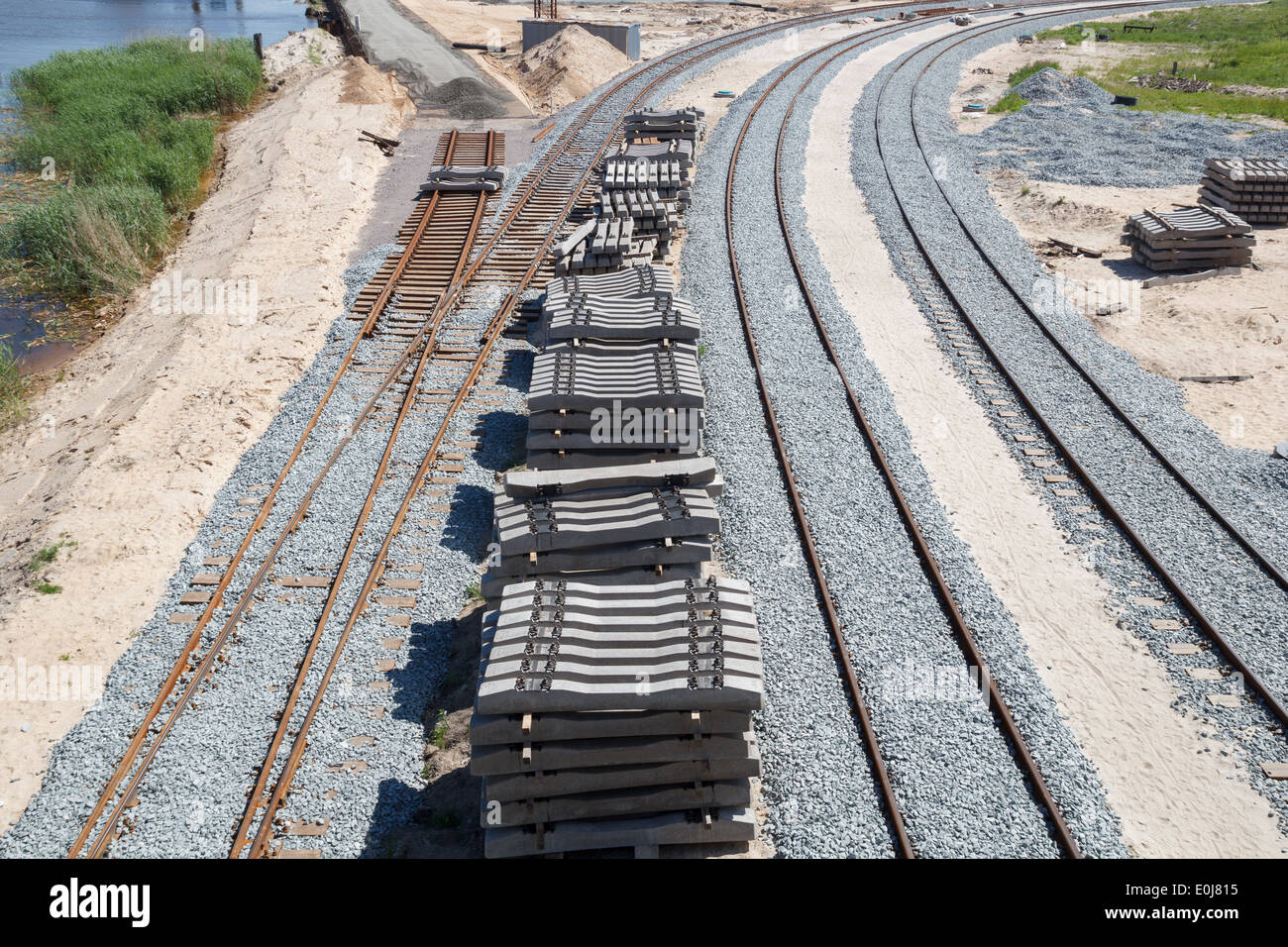 new railway construction - Stock Image