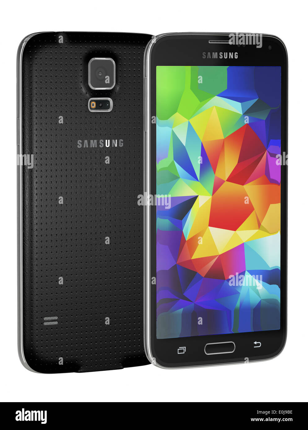 Samsung Galaxy S5 is the newest smart phone from Samsung and support 5.1 inches - Stock Image
