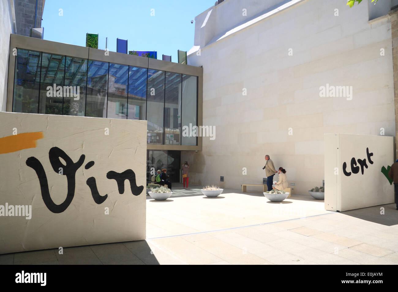 Entrance Fondatio Vincent van Gogh, Foundation, Arles, Camargue, Provence, France, Europe - Stock Image