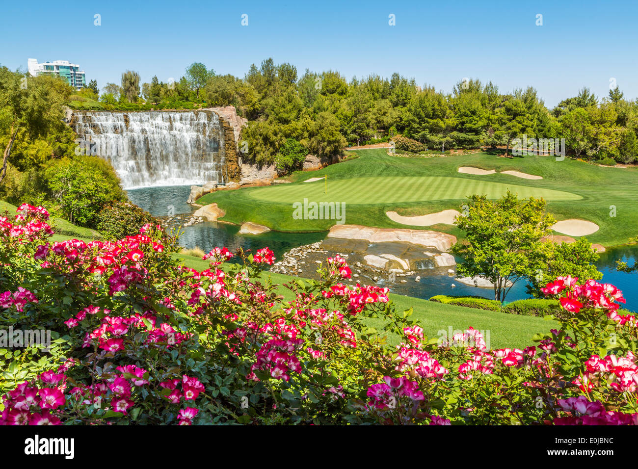 The Wynn Las Vegas Golf Course is due to close December 17 to create the Wynn Paradise Park,' a $1.5-billion development project Las Vegas Nevada USA - Stock Image