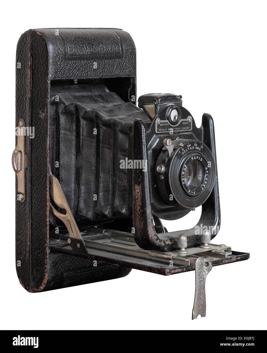 Antique Camera isolated on white background - Stock Image