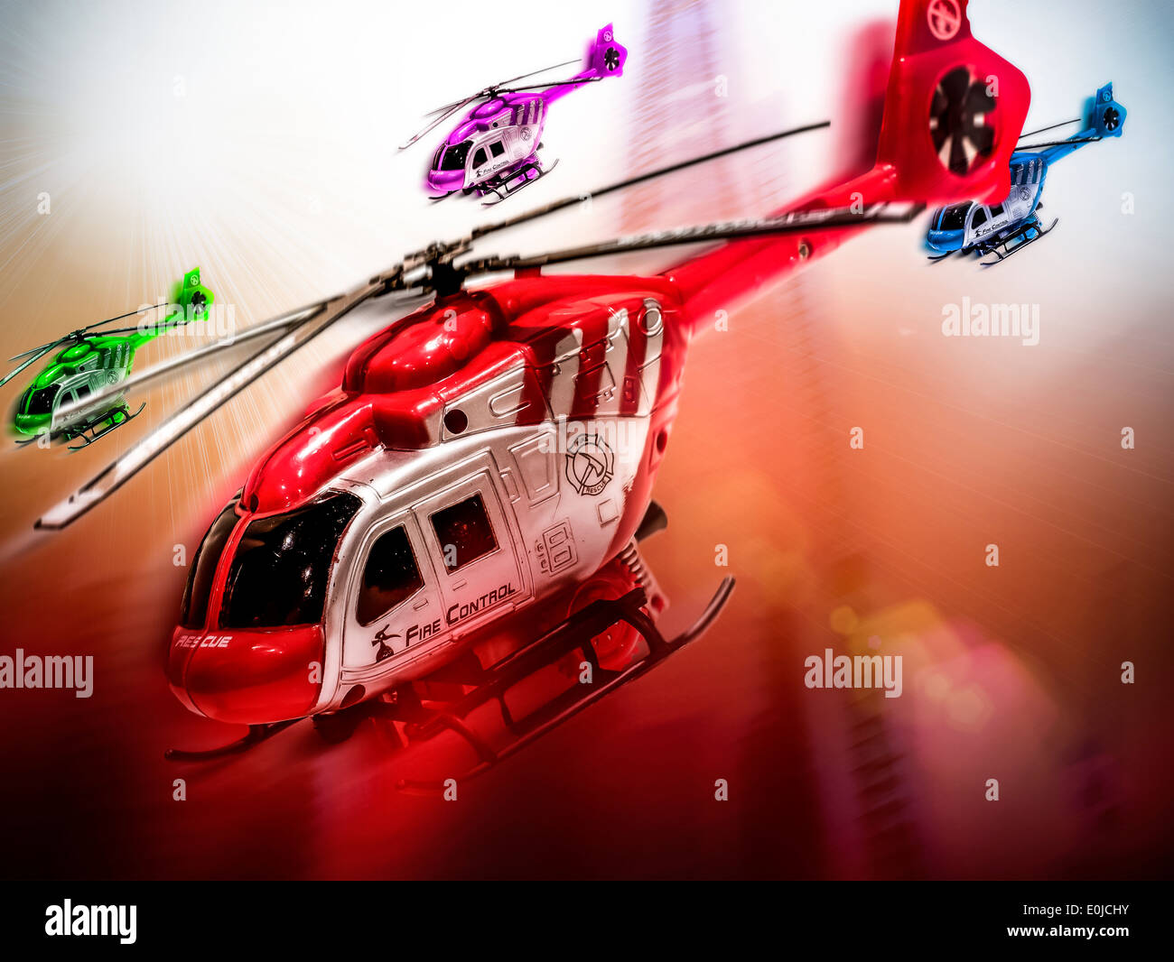Toy Helicopter - Stock Image
