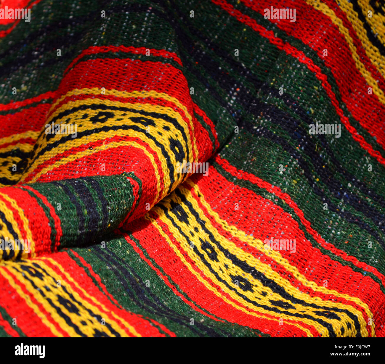 Colorful poncho in Mexico - Stock Image
