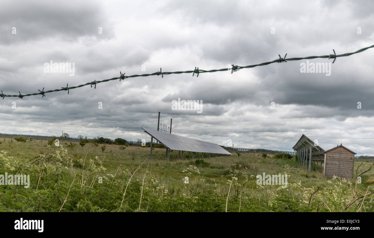 Barbed Wire Fence In Farmers Stock Photos & Barbed Wire Fence In ...
