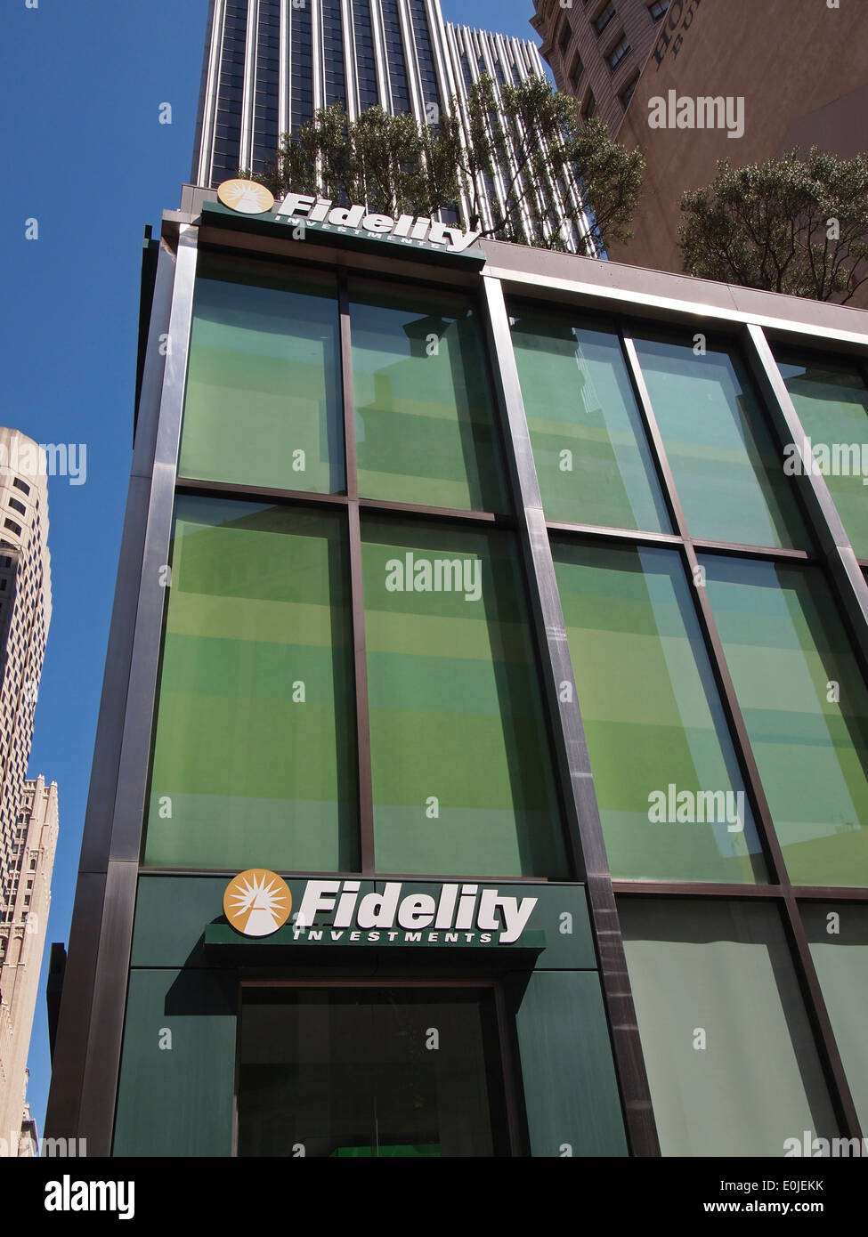 Fidelity Investments office San Francisco California USA - Stock Image