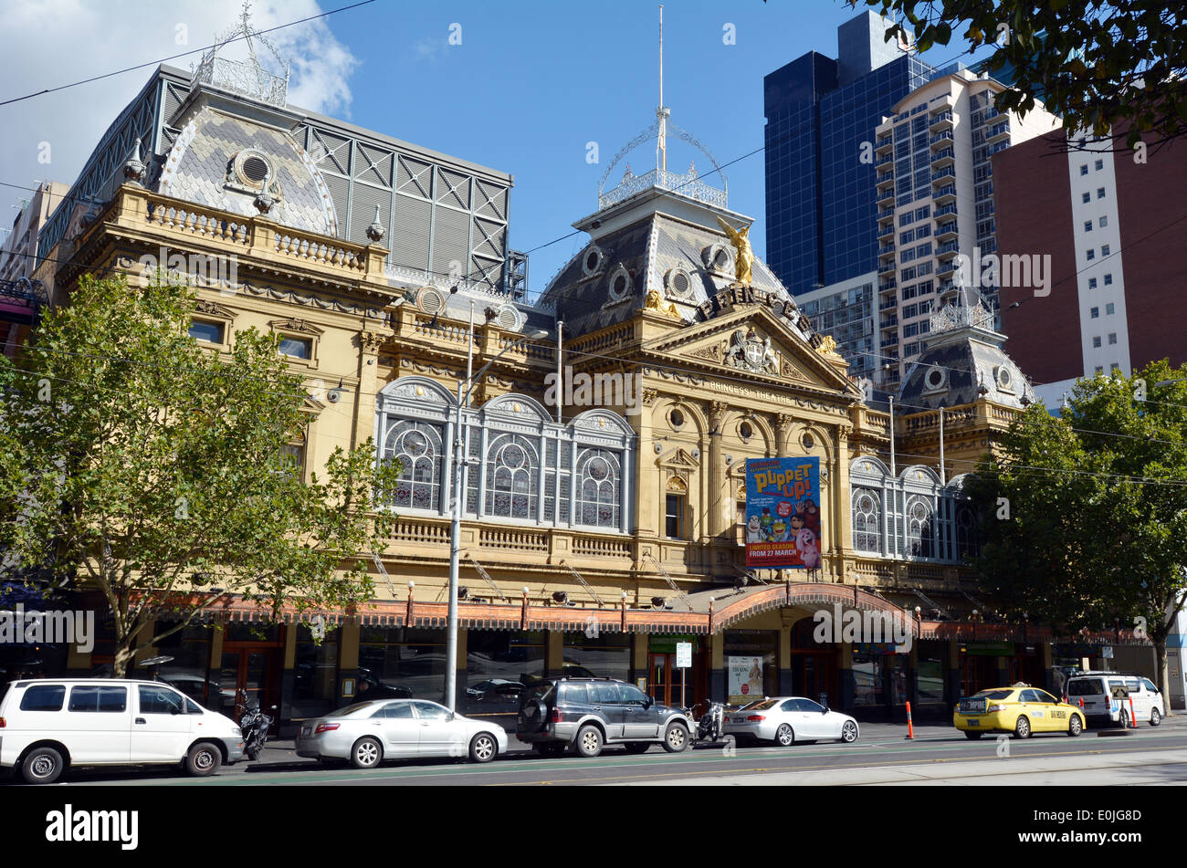 Princess Theatre Melbourne.It's a 1488-seat theatre in Melbourne, Australia.listed by the National Trust of Australia and is on the Victorian Heritage - Stock Image