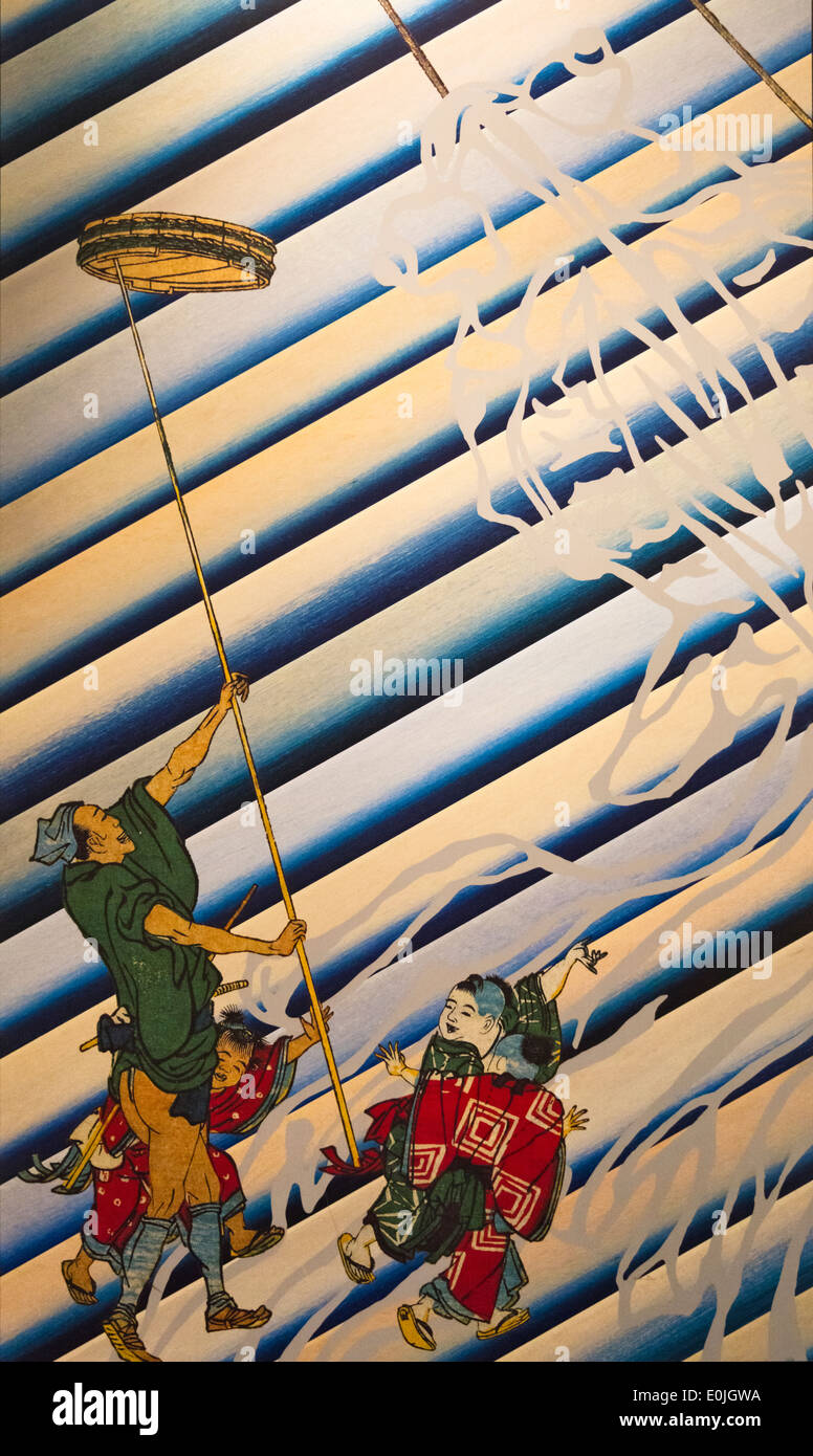 Ukiyo-e historic painting, Japan - Stock Image