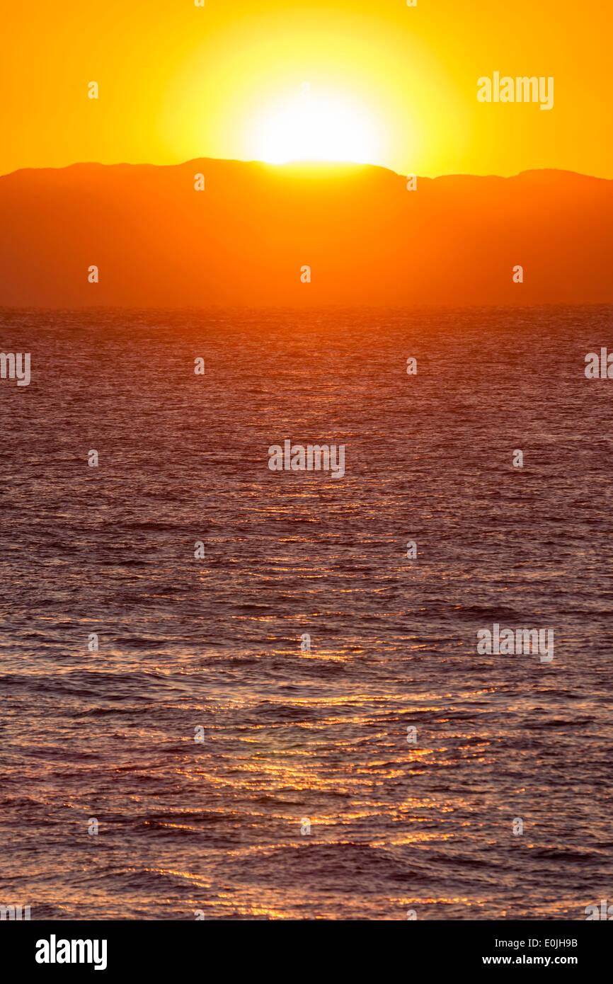 Sunset at Inamuragasaki, Kanagawa Prefecture, Japan - Stock Image