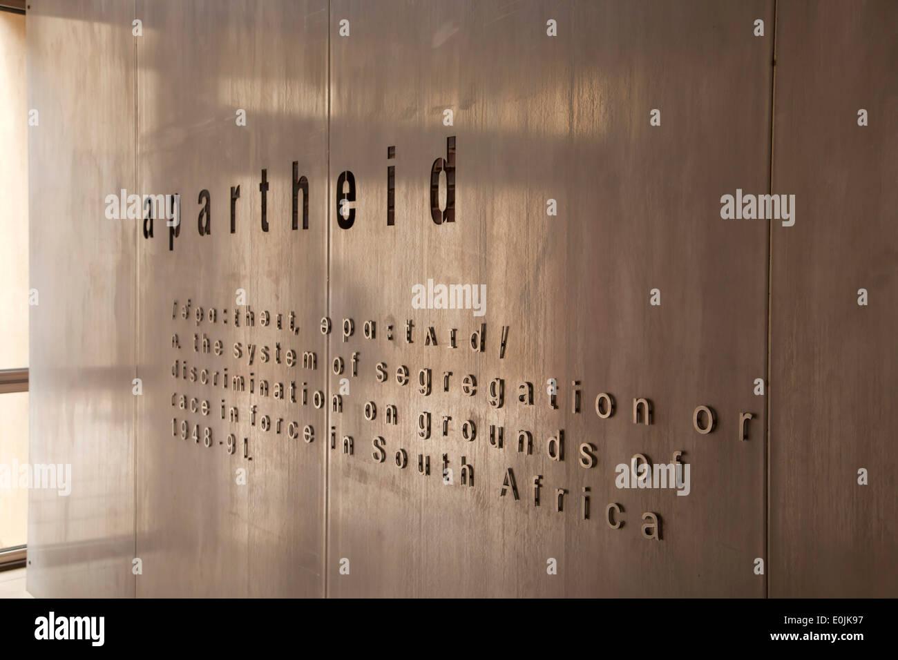 Encyclopedic Apartheid sign, Johannesburg, Gauteng, South Africa, Africa - Stock Image