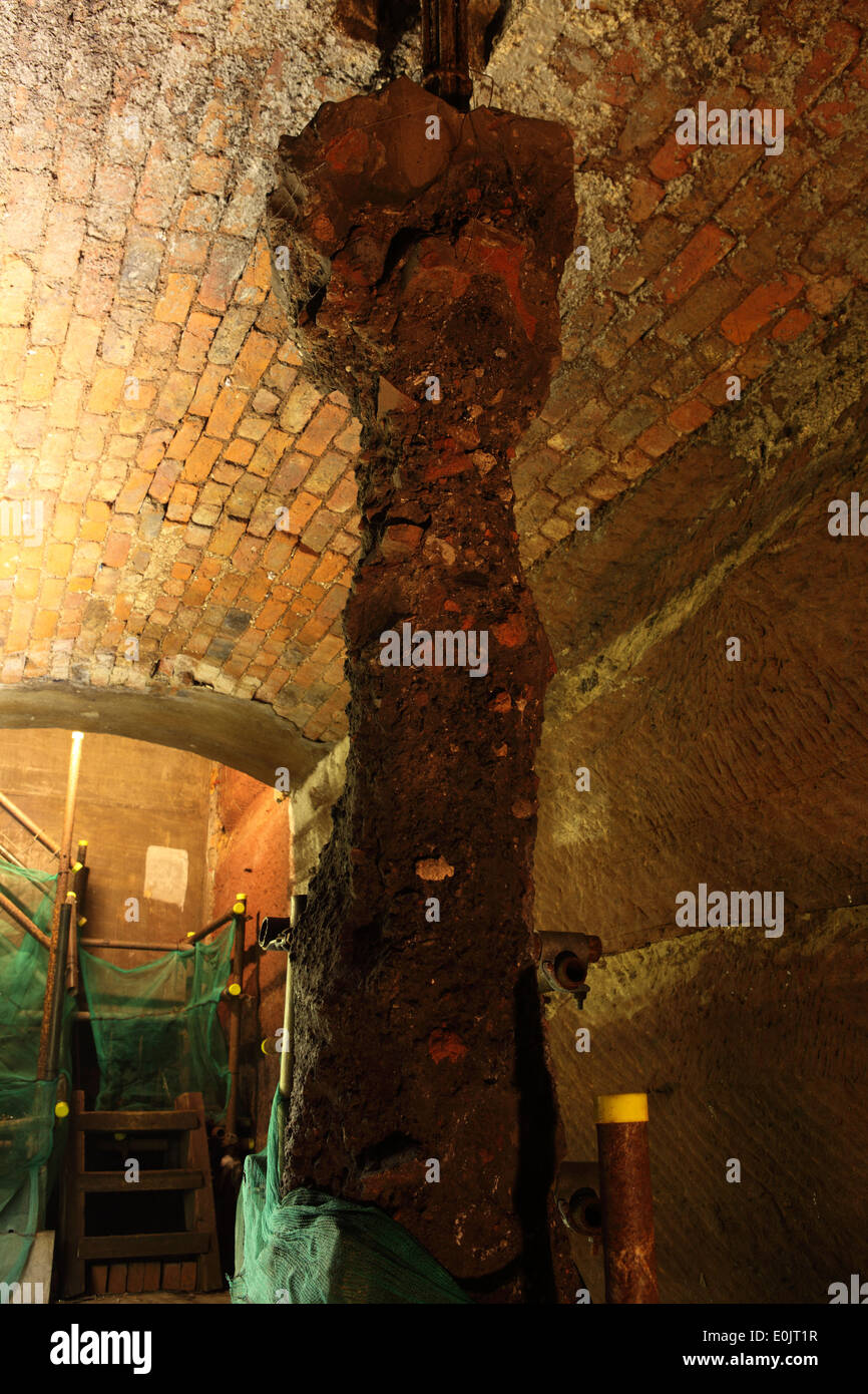 An excavation known as 'the kebab' within the Williamson Tunnels in Liverpool, United Kingdom. Stock Photo