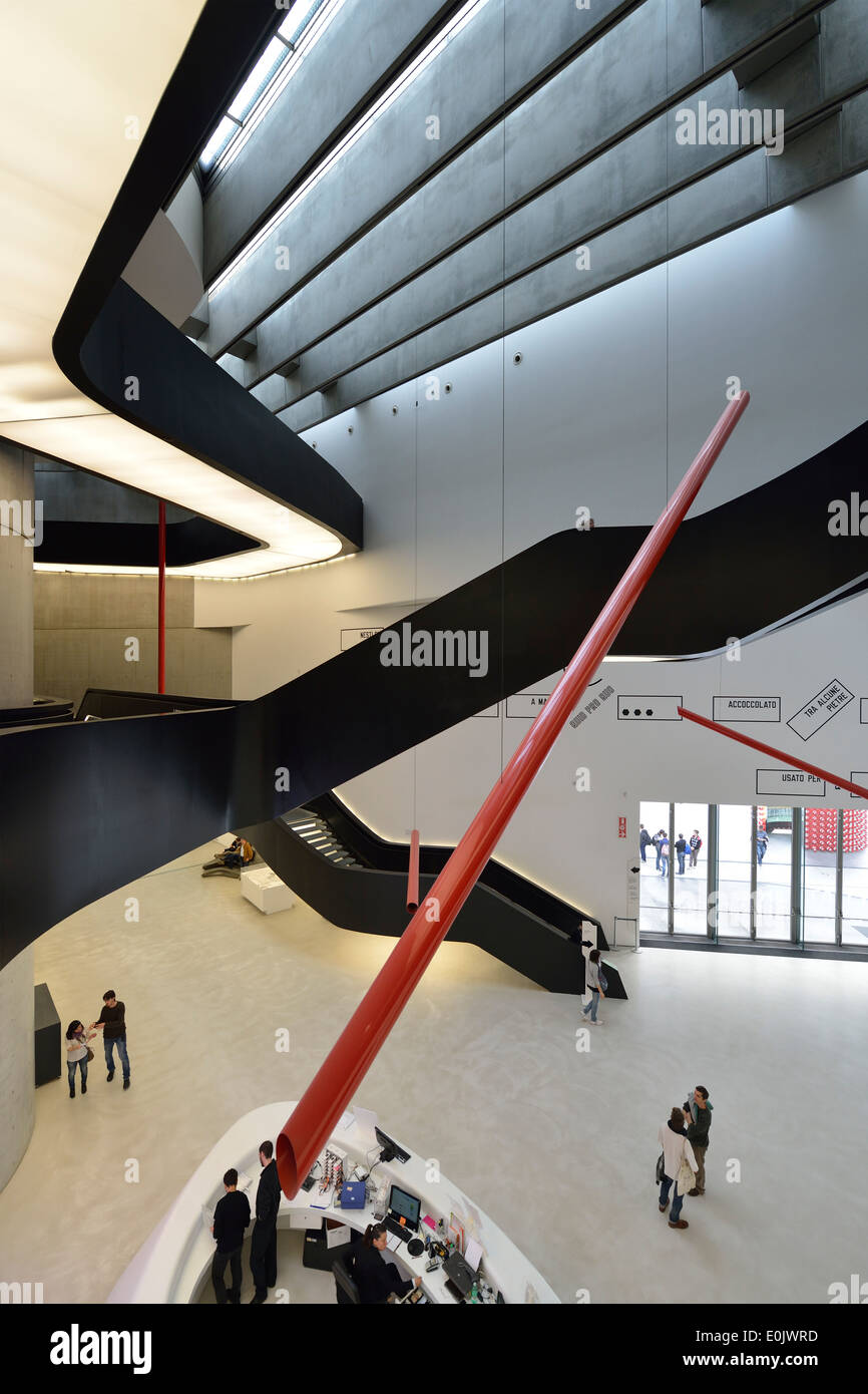 Rome. Italy. MAXXI National Museum of 21st Century Arts designed by Zaha Hadid in the Flaminio district. (Museo - Stock Image