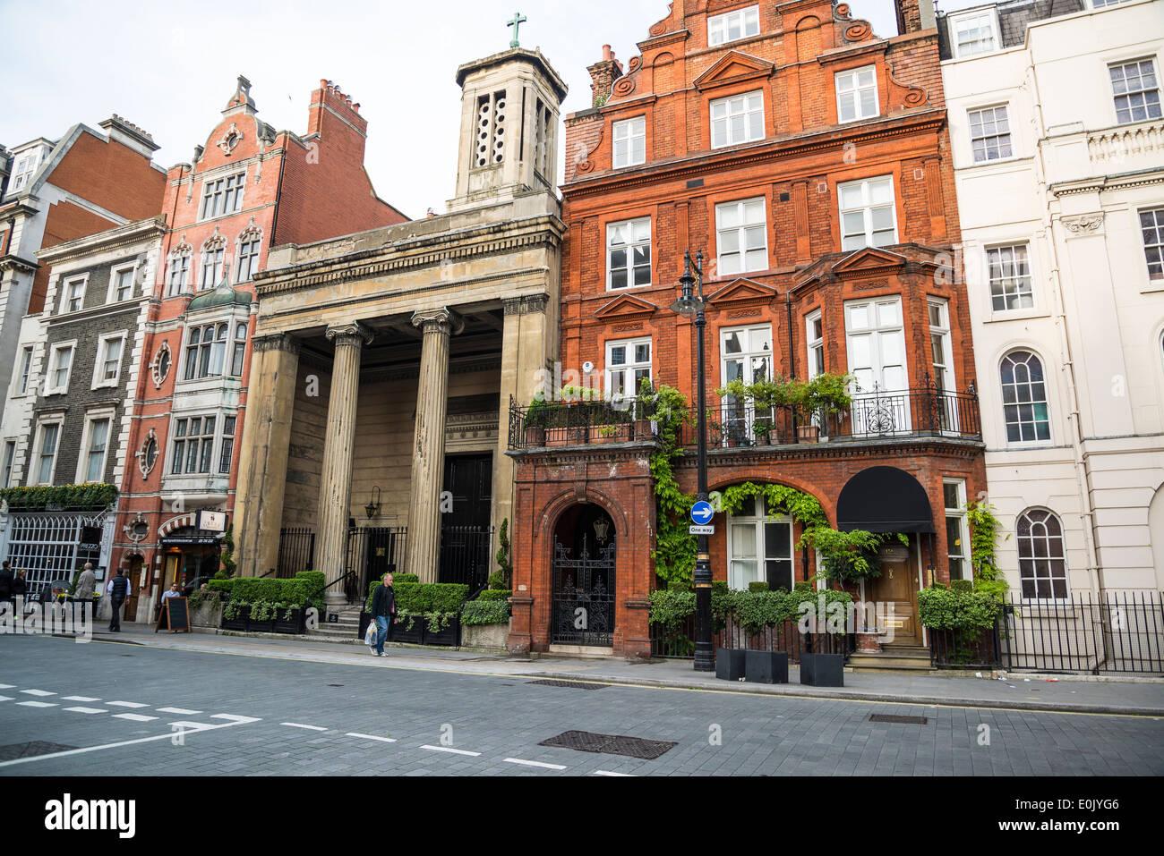 N Audley Street, W1, Mayfair, London, UK - Stock Image