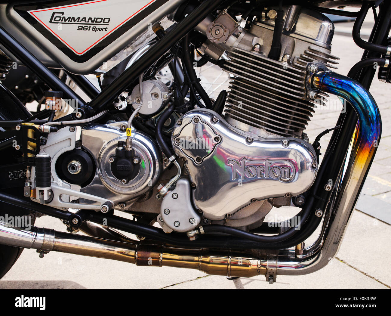 Norton Commando 961 motorcycle. Classic british motorcycle - Stock Image