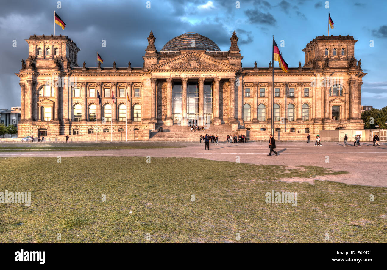 The Bundestag (German Federal Parliament) in the heart of Berlin. - Stock Image