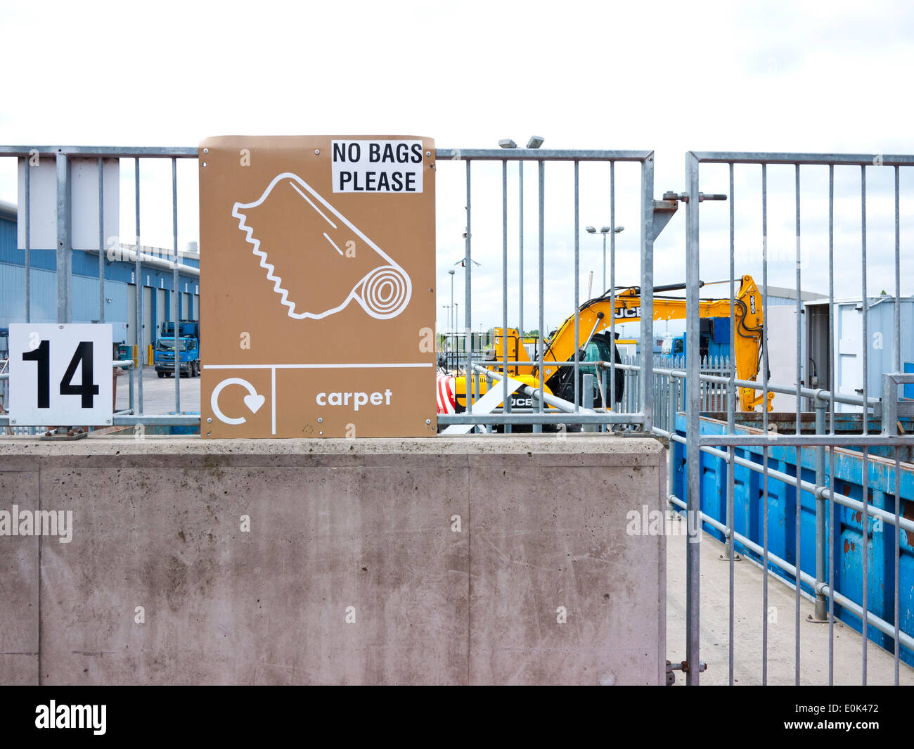 Waste disposal and recycling centre, Oldham,Lancashire,England,UK. - Stock Image